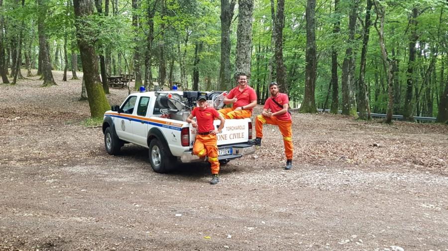 I volontari nel campo di Iacotenente